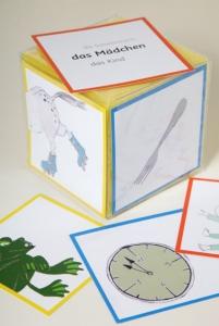 Ein Erzählwürfel für Kinder zur Sprachförderung, Wortschatzerweiterung und Satzbauübungen